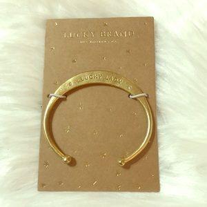 LuckyBrand Brass Cuff Bracelet NWT